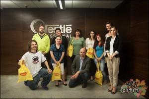 Blogerzy kulinarni i Sławek Graczyk z agencji Lemon Sky, na szkoleniu Winiary