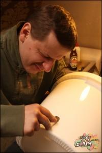 piwowarstwo: wiercenie dziury pod montaż kranu w zbiorniku fermentacyjnym
