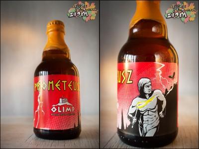 prometeusz browar olimp butelka i etykieta